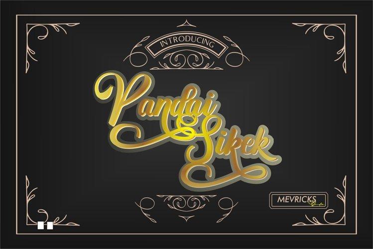 Pandai Sikek Script Font example image 1