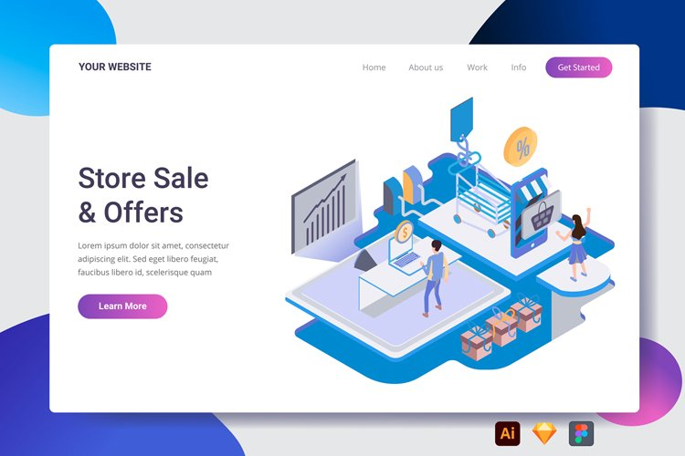 Store Sale Landing Page
