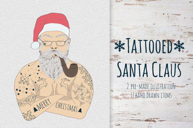 Tattooed Santa Claus example image 1