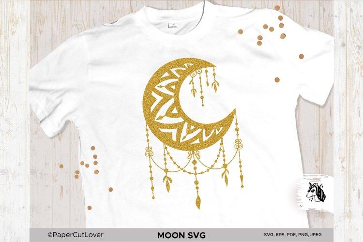 Moon SVG Crescent Moon SVG Half Moon Paper Cut Boho Svg