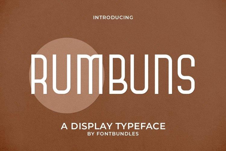 Web Font Rumbuns example image 1