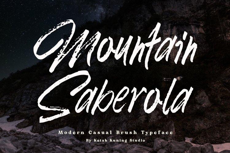 Brush Font - Mountain Saberola example image 1