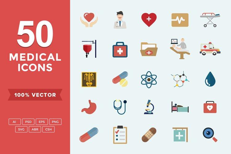 Medical & Health Flat Icons Set