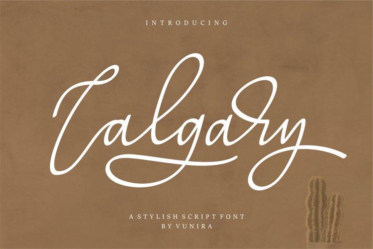 Calgary   A Stylish Script Font example image 1
