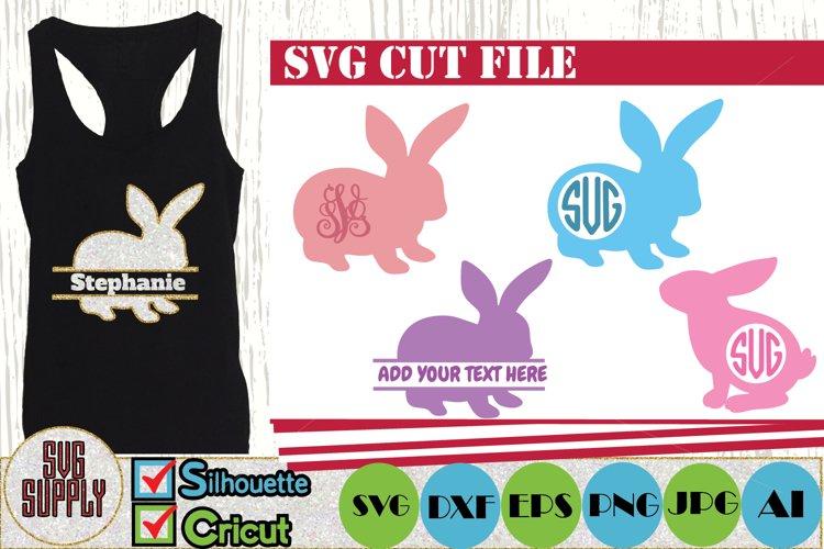 Bunny For Monogram SVG Cut File
