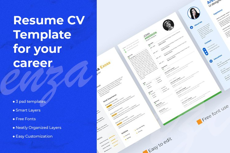 Resume CV Template for your career