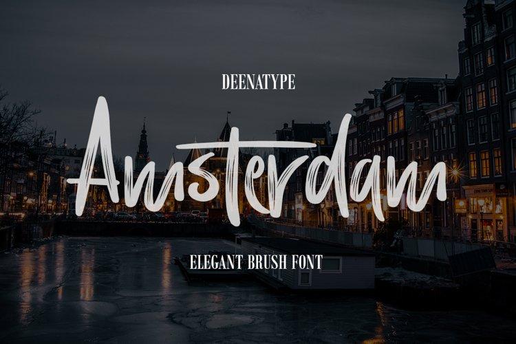 Amsterdam Brush Font example image 1