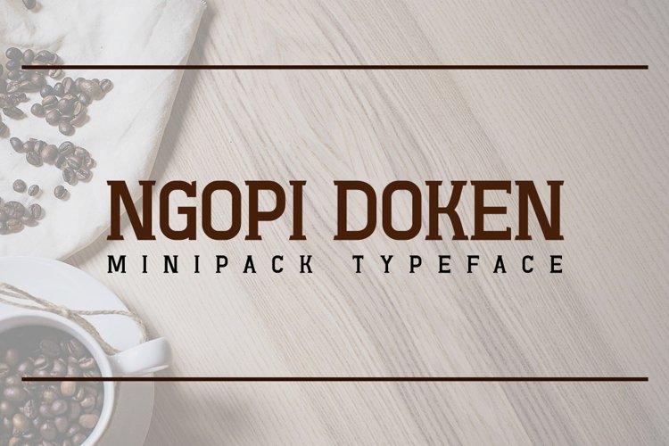 Ngopi-Doken Minipack Typeface example image 1