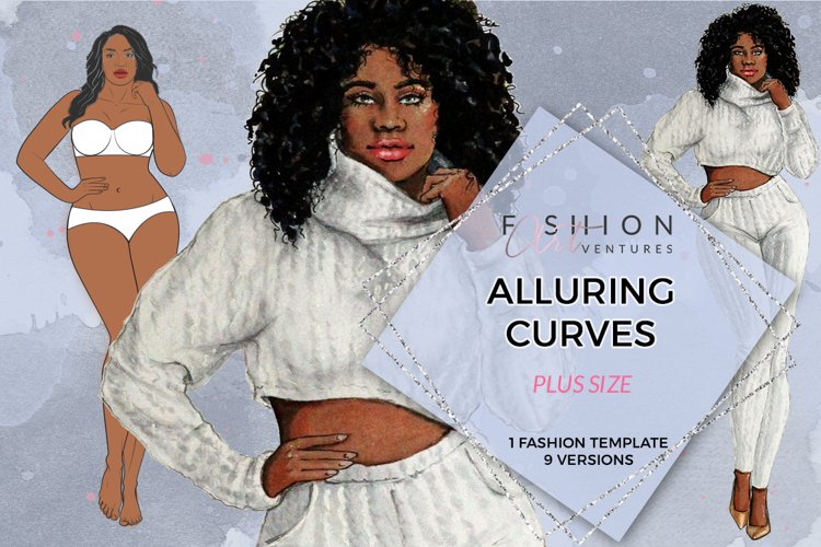 Alluring Curves Fashion Figure - printable download
