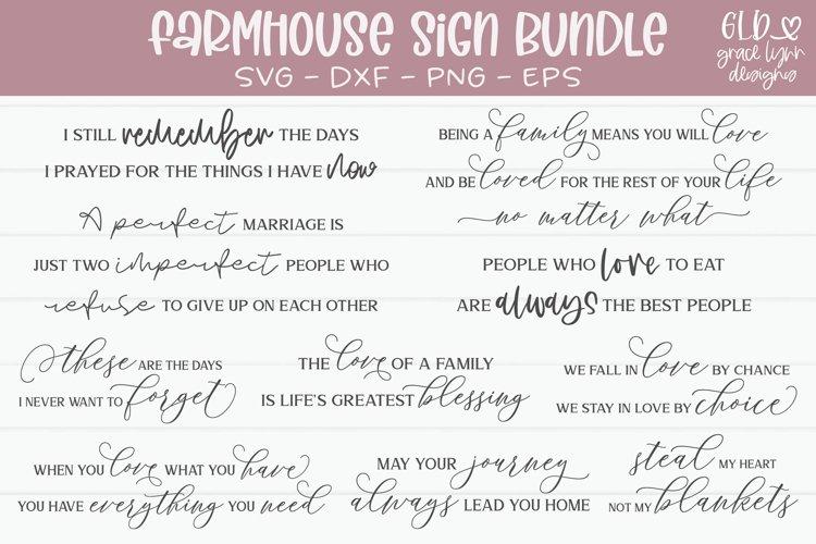 Farmhouse Sign Bundle - 10 Farmhouse Sign SVG Cut Files