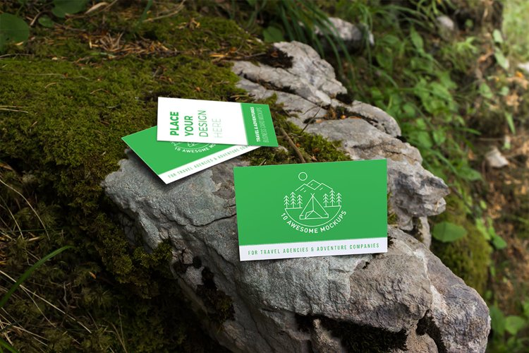 Business cards mockup 8 | Travel Mockup Collection Set 2