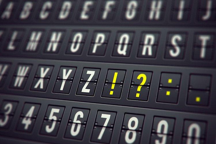 Airport Table Alphabet Set