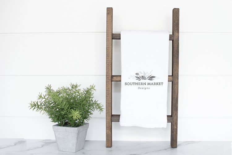 Kitchen Tea Towel Mock Up Stock Styled Photography