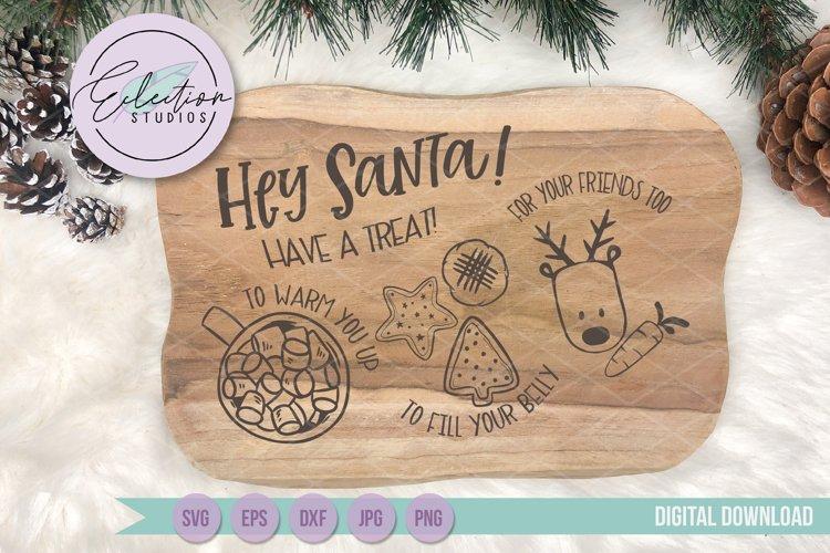 Christmas Hey Santa Cookies for Santa Tray SVG