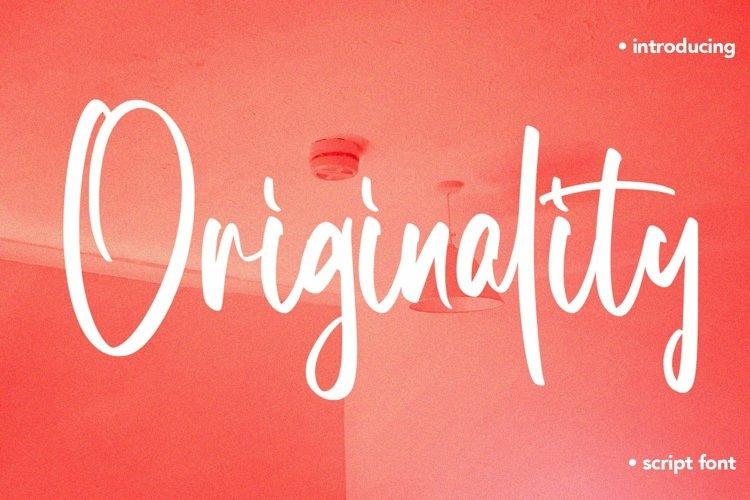 Web Font Originality - Script Font example image 1
