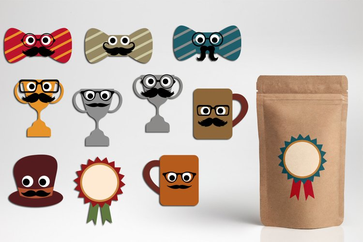 Fathers day clipart - bow tie, trophy, award ribbon