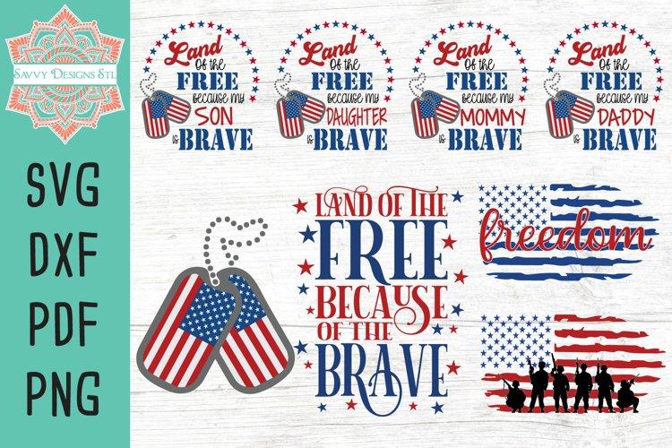 USA Patriotic Cut File Bundle
