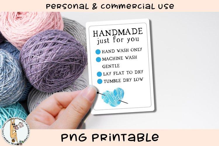 Handmade Item Care Card Printable