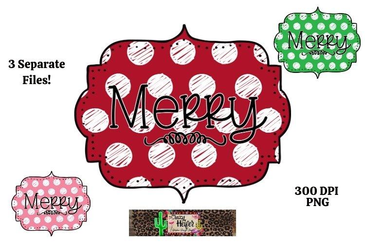 Merry Christmas Dye Sublimation PNG Polka-Dot Hand drawn example image 1