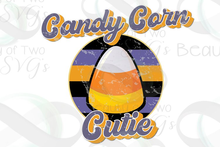 Candy Corn Cutie Vintage Retro Distressed Sublimation png example image 1