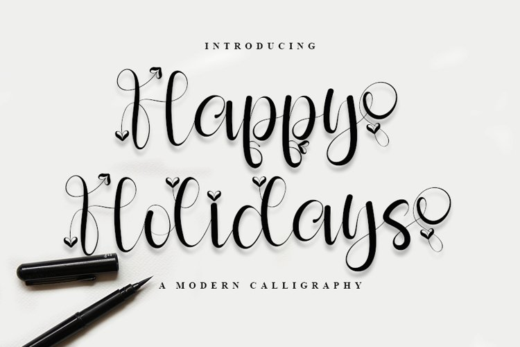 Happy Holiday - A Modern Calligraphy Font example image 1