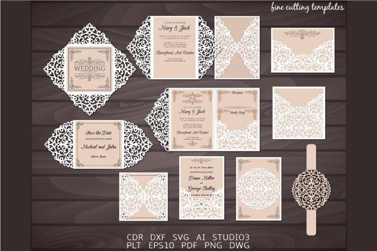 Download Laser Cut Wedding Invitation Set Of 8 Templates Svg Cdr 479893 Card And Invites Design Bundles