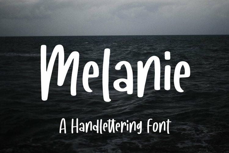 Web Font Melanie - A Handlettering Font example image 1