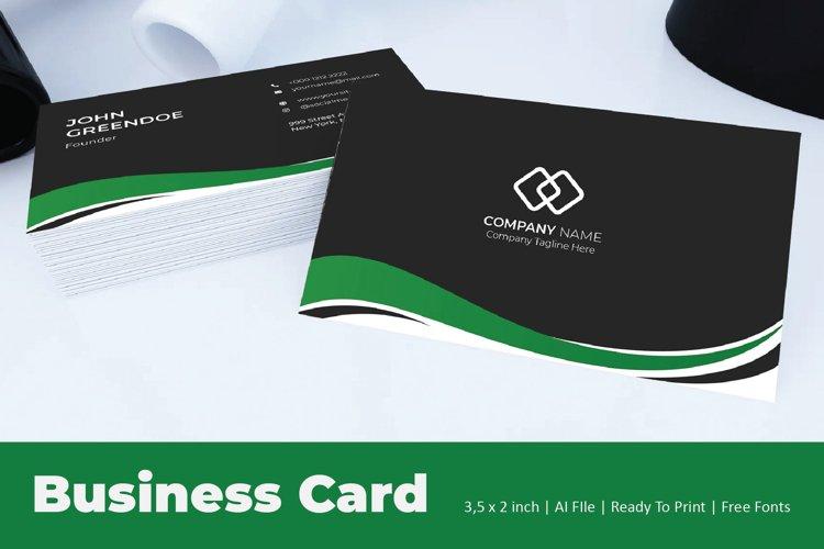 Green Flow Business Card Template