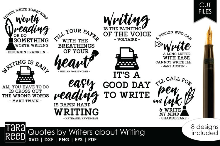 Quotes by Writers about Writing Artists Bundle example image 1