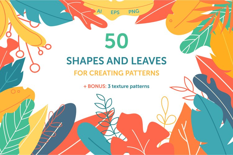 Shapes and leaves for creating patterns example image 1