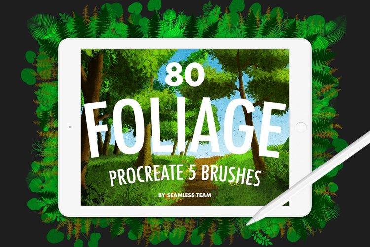 80 FOLIAGE BRUSHES FOR PROCREATE 5 example image 1
