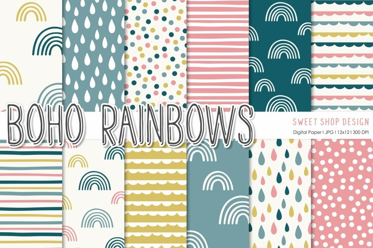 Digital Paper Pack BOHO RAINBOWS