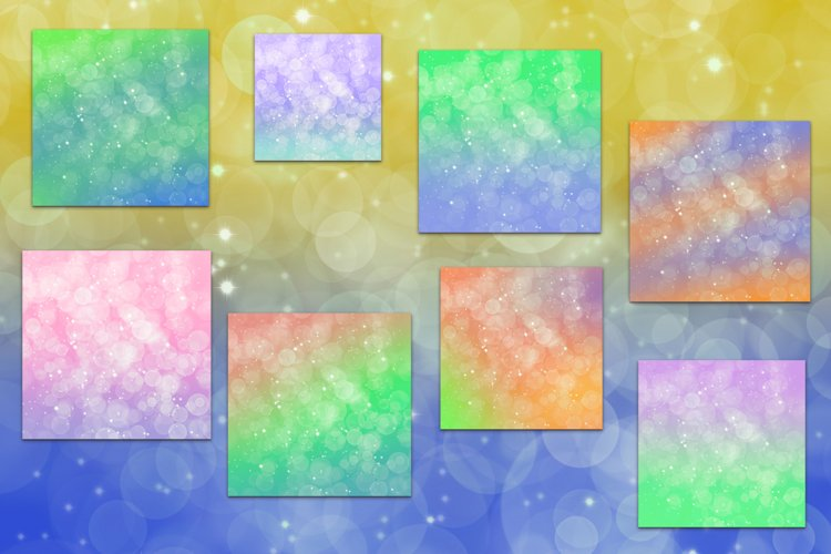 16 images - Abstract bokeh with different gradient color