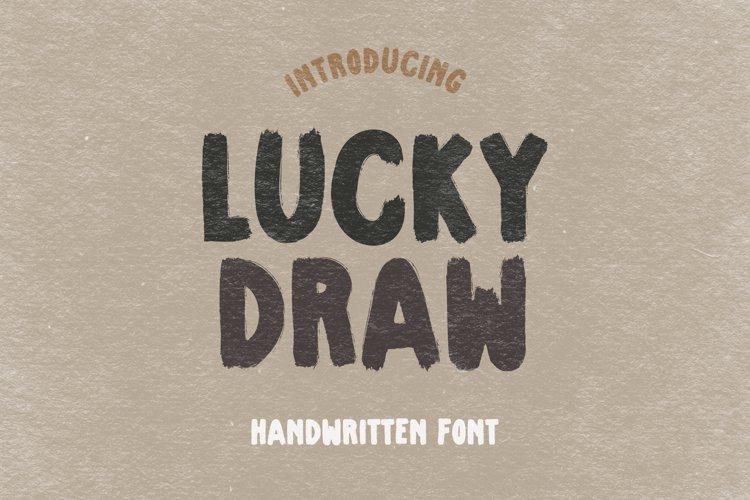 Lucky Draw - A Drybrush Handwritten Font example image 1