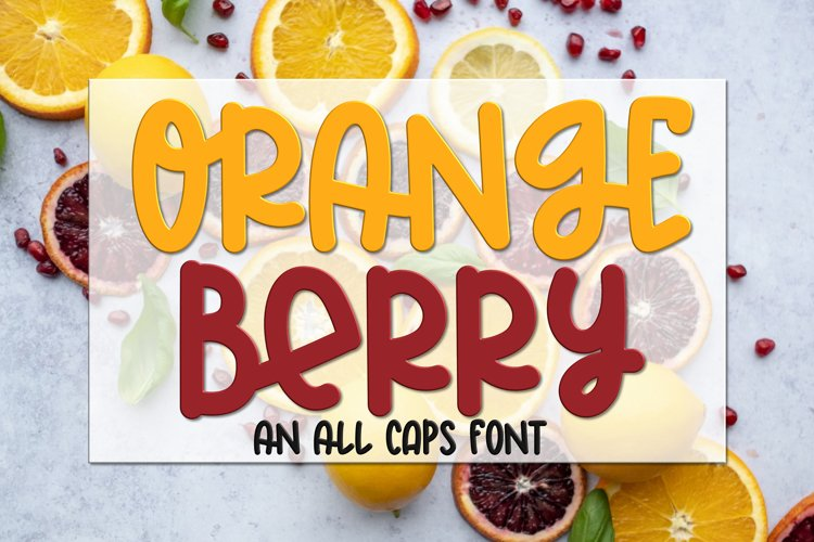 Orange Berry - An All Caps Font example image 1