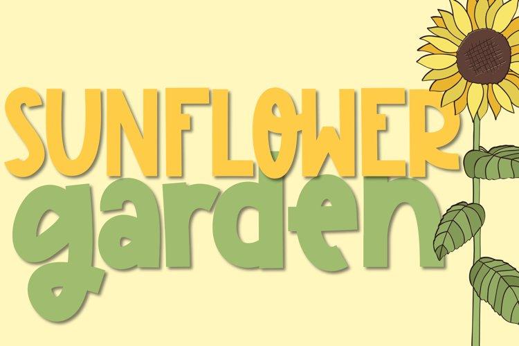 Sunflower Garden - A Cute Font example image 1