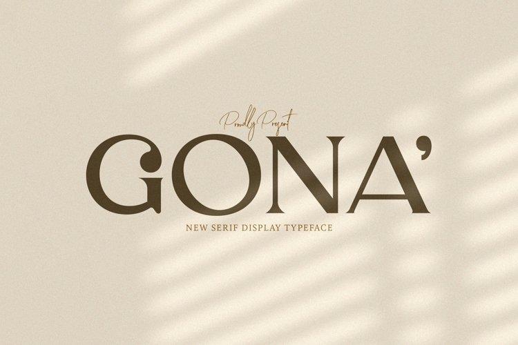 Web Font Gona example image 1