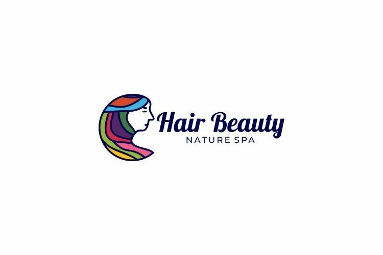 Hair Beauty Salon Spa Logo Design Vector