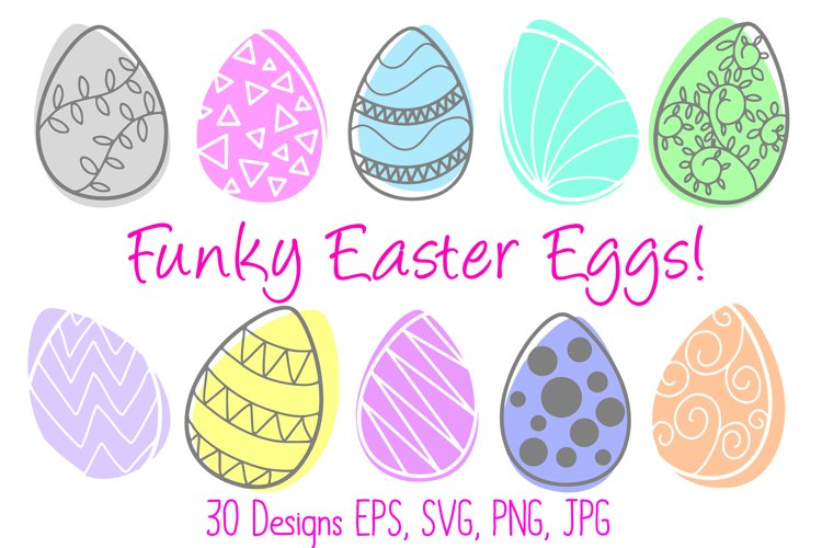 Cute Fun Abstract Easter Egg Collection SVG, PNG, JPG, ESP example image 1