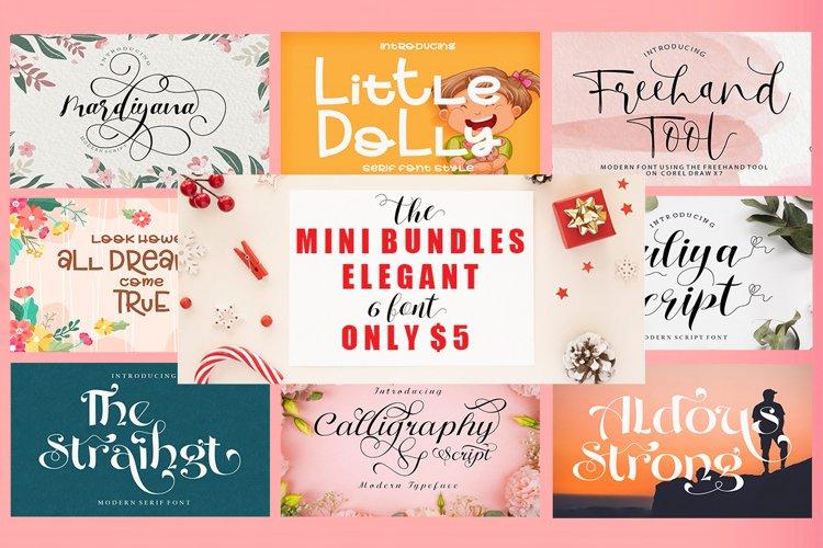 Mini Bundle Elegant 6 font only $ 5 example image 1