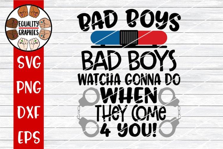 Bad Boys Police Officer SVG | DXF | PNG
