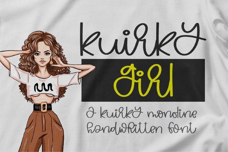 Kuirky Girl - A kuirky monoline handwritten font example image 1