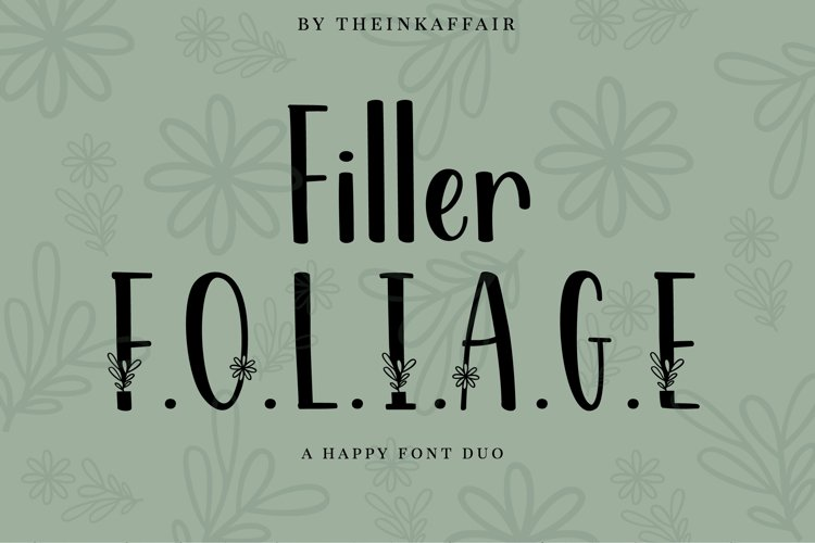 Filler Foliage - A Happy Christmas Font Duo example image 1