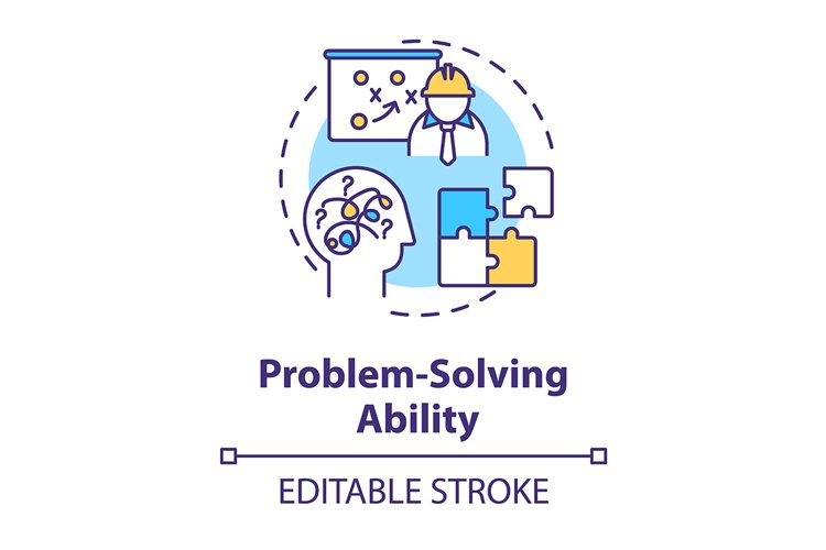 Problem solving ability concept icon example image 1