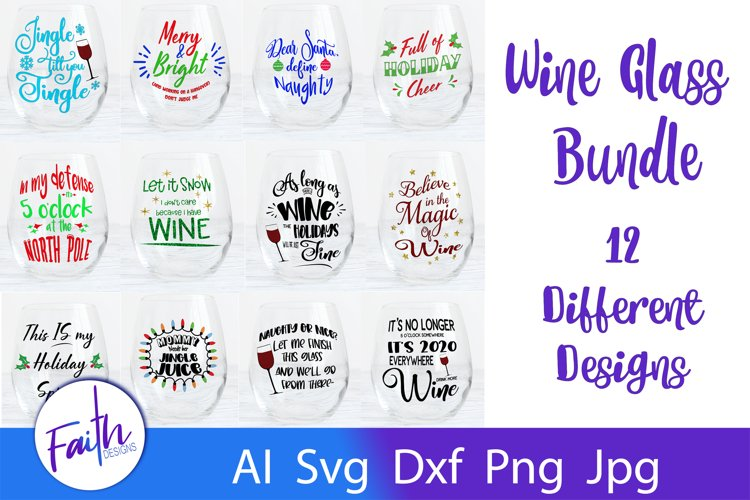 Wine Bundle Svg Cut Files example image 1