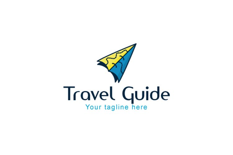 Travel Guide - Origami Air Plane Stock Logo Template example image 1