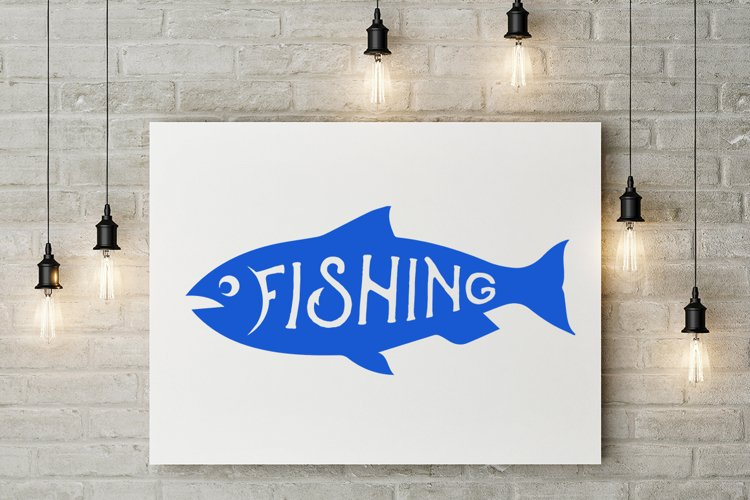 SVG Cut File, FiSHING, FISH Silhouette, EPS, DXF, PN example image 1