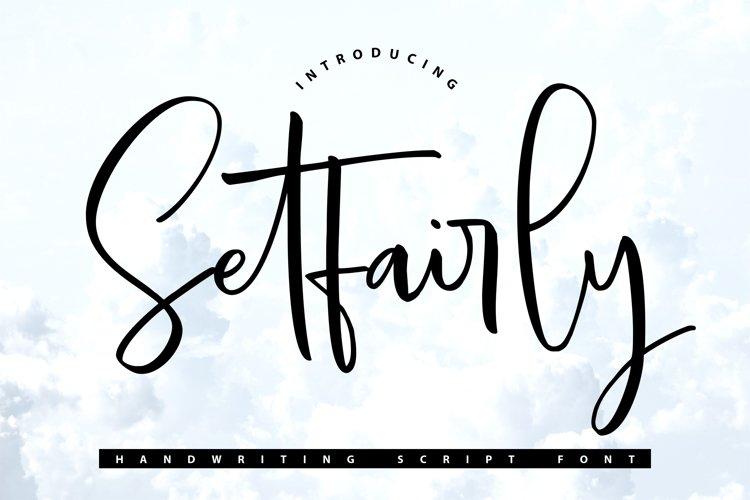 Setfairly | Handwriting Script Font example image 1