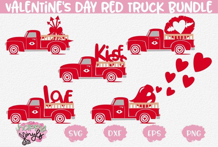 Valentines Day Red Truck - A Valentines Day SVG Bundle