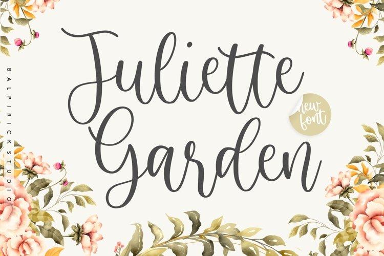 Juliette Garden Modern Calligraphy Font example image 1